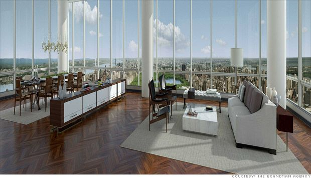 Too sterile, but look at the view.  90 million New York apartment.