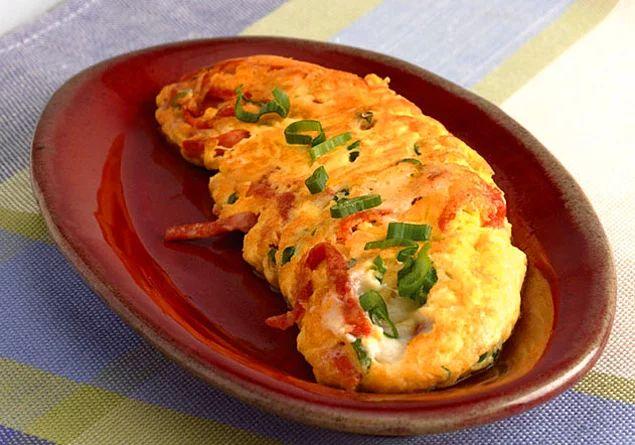 Güne bu güzel omletle başlayabilirsiniz...