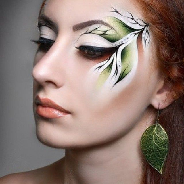 """""""Veronique Make-up School"""" Учебная работа в рамках курса """"Визажист-Профессионал"""" #makeupartist #makeupschool #makeuplove #beauty #makeupdnepropetrovsk #bestmakeup #makeupeducation #art #artmakeup #stagemakeup #stage #forest #elf #forestmakeup # leprechaun #flowermakeup #creation #creationmakeup # halloween #halloweenmakeup"""