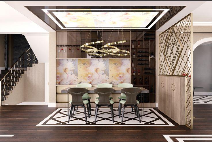 #Black #white #beige #green #burntsienna #naturallight #ambientallight #livingroom #dinnertable #livingroom #hanginglamp