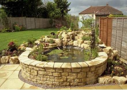 58 best images about koi pond ideas on pinterest gardens for Raised fish pond designs
