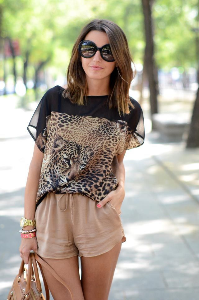 neutral animal print outfit
