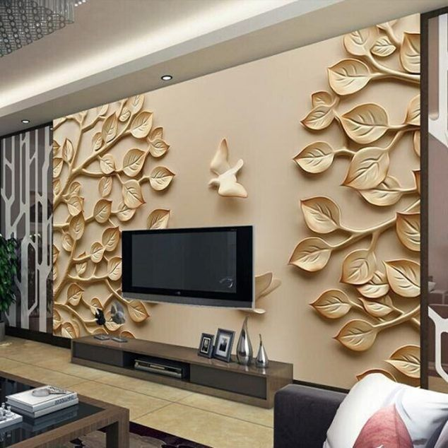 12 3d wallpaper for tv wall units that will make a statement tv unit design living - Designer Wall Units For Living Room