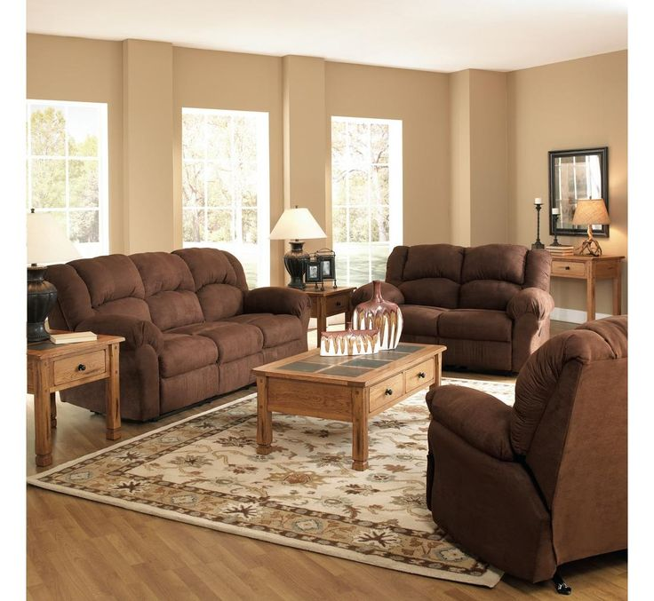 Family room parker 3 piece living room set all reclining for 10 piece living room set