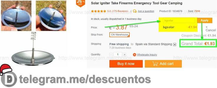 Concentrador de luz solar sólo 193 - http://ift.tt/2gRk1oT
