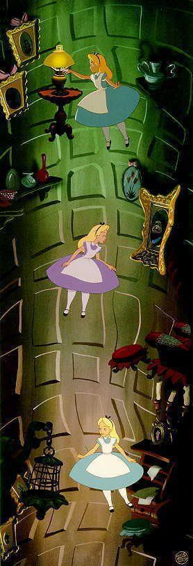 Alice falls down the rabbit hole~
