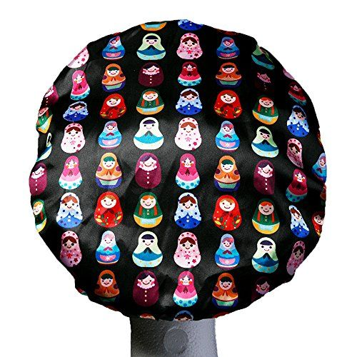 USE!  Dillys Collections Waterproof Microfibre Shower Cap Large Babushka