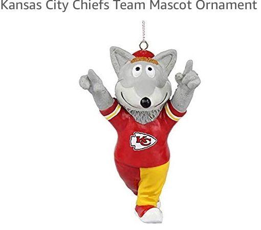 663846f4 Kansas City Chiefs mascot KC Wolf ornament 2018   CHRISTMAS - WINTER ...
