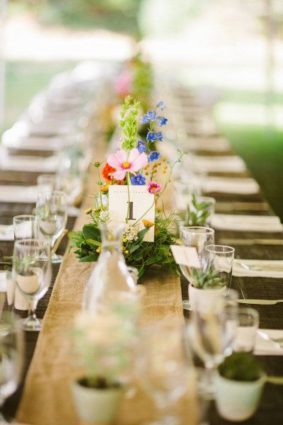pretty garden party. love the long table for wedding receptions.