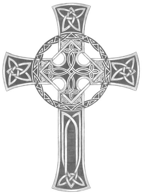 Traditional Celtic Cross Tattoo