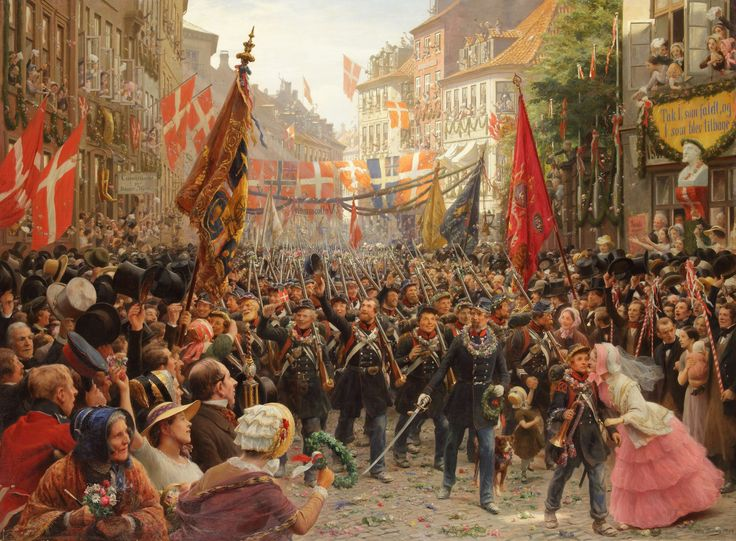 Danish soldiers return to Copenhagen in 1848 (1884), Otto Bache