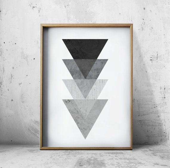 Abstract Art Print, Pop Art Print, Geometric Art Print, Wall Art  PRINTING OPTIONS  Lustrous ultra smooth matt finish with good flexibility and
