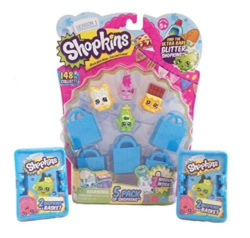Shopkins 5 Pack With 2 Shopkins Blind Basket Bundle - Styles Will Vary, 2015 Amazon Top Rated Play Food #Toy