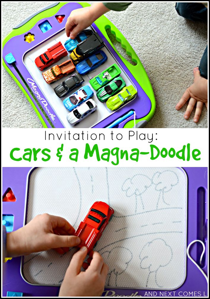 invitation to play cars a magna doodle boredom bustersactivities for kidsmotor