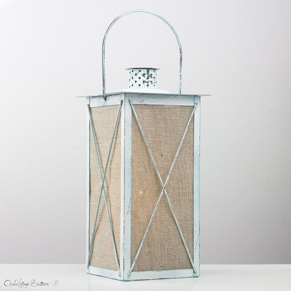Rustic Holiday Decor Lights, Cabin Decor Christmas Centerpiece, Rustic wedding Lantern, Metal Lantern, Outdoor Wedding Centerpiece