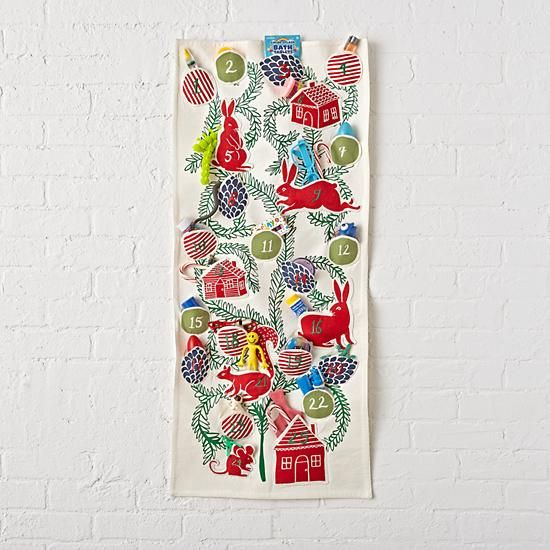 Shop Kids Animal Advent Calendar.  The critters on this kids animal advent calendar want to wish you a happy holiday.  They're celebrating by letting you store 25 festive goodies in the various pouches, making the countdown to Christmas more fun than ever.