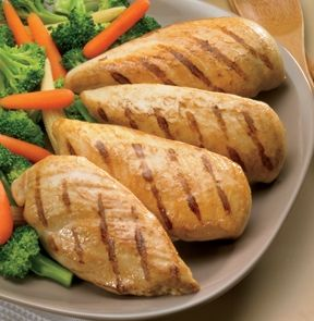 BONELESS CHICKEN BREASTS, SEASONED & SKINLESS. The best way to buy chicken so you can do whatever you want with it - chop it up and saute it, tenderize it and roll it up around your favourite veggies, or cut it into strips for chicken fingers.