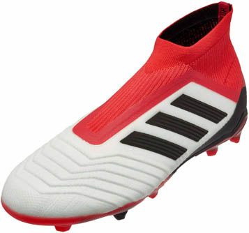 adidas Kids Predator 18+ FG - White   Real Coral  a4af31bc398b