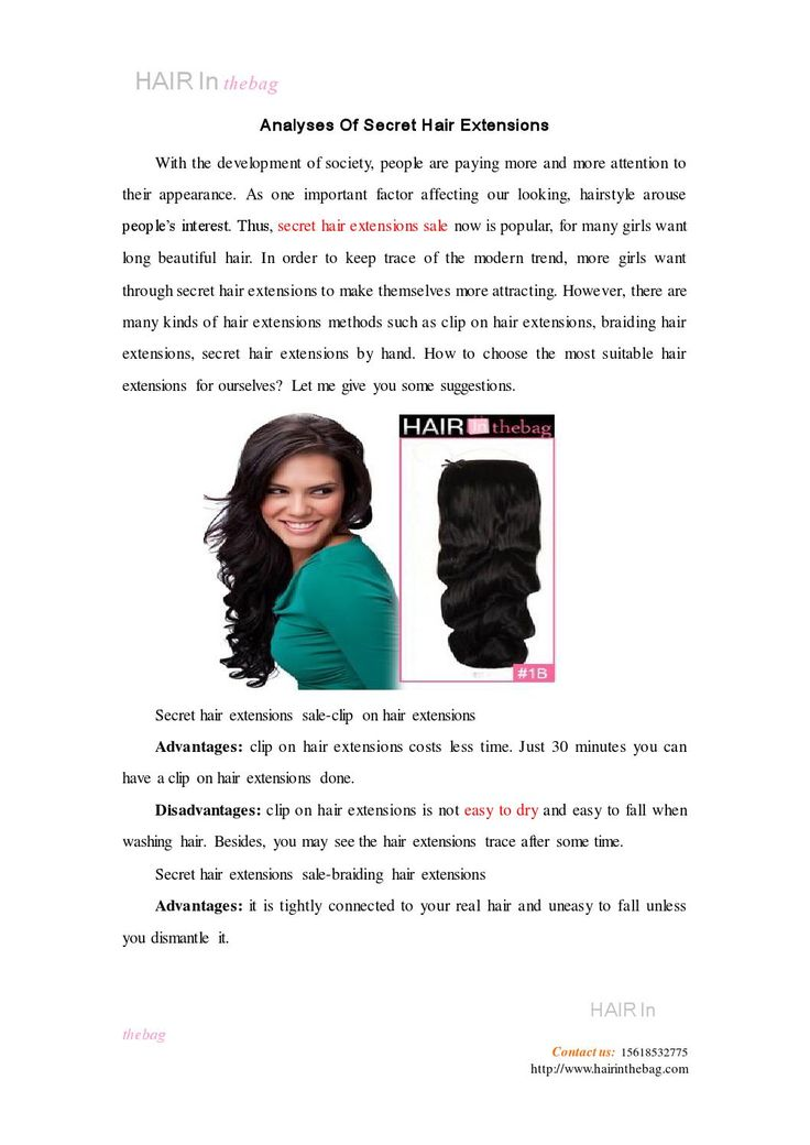 Analyses of secret hair extensions