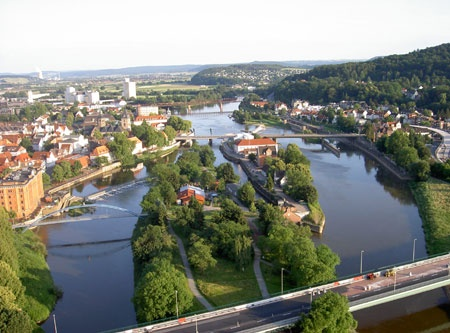 Lower Saxony, Hamelin-Pyrmont (district), Hamelin (town) by the river Weser