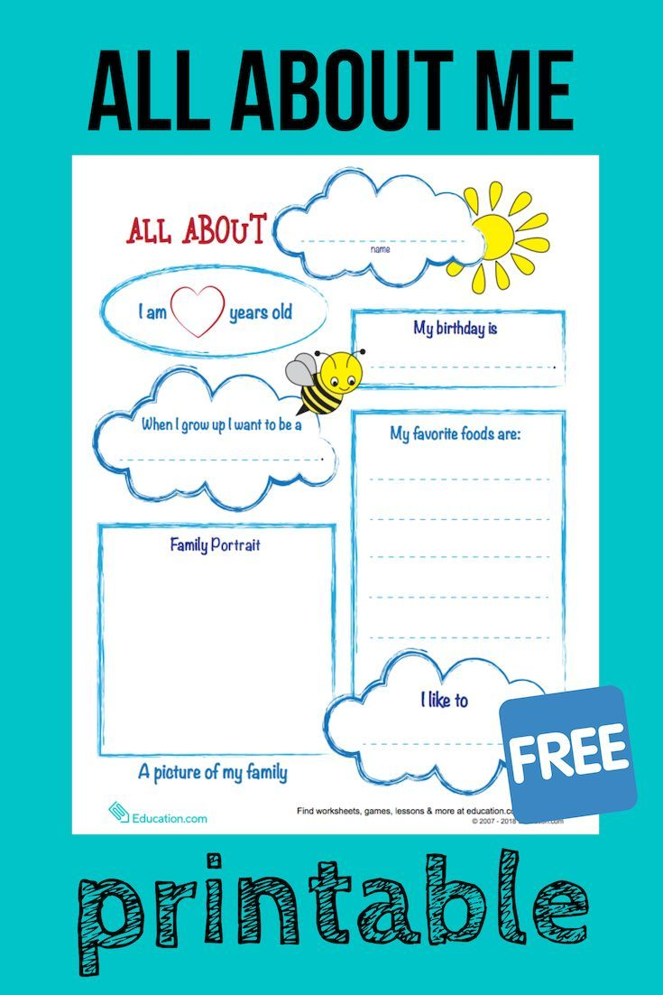 All About Me Report Worksheet Education Com Informational Writing Handwriting Analysis Handwriting Practice