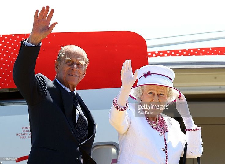 Queen Elizabeth II and Prince Philip, Duke of Edinburgh wave farewell to Australia at the Perth International Airport on October 29, 2011 in Perth, Australia. Queen Elizabeth II opened the 54-nation summit following a 9-day tour of Australia. The three-day biennial gathering is chaired by Australian Prime Minister, Julia Gillard and concludes on October 30.