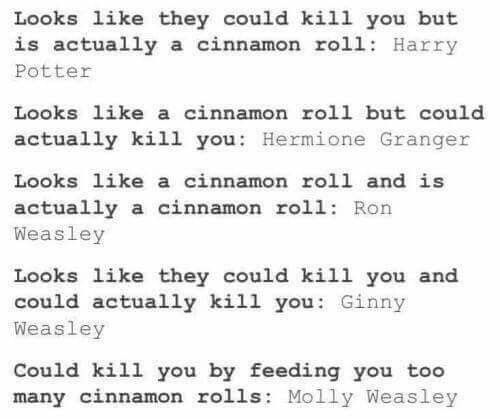 """Ahhhh I love how molly always is like """"RON WEASLEY HOW DARE YOU DO [x]"""" and then she's like """"harry dear it's so nice to see you"""""""