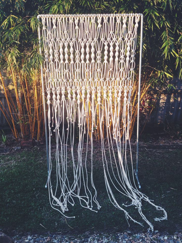 Palm Springs Macrame Backdrop retro in the rough Vintage and Retro Furniture Hire