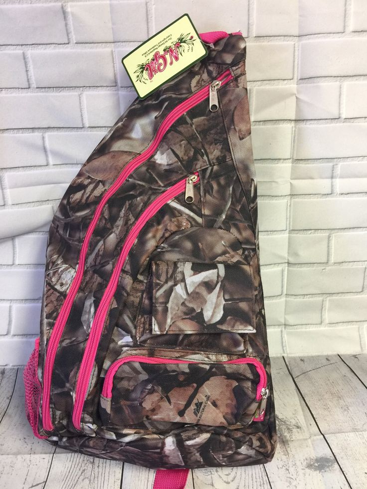 Camo backpack, camo sling backpack, Pink camo backpack, pink camo bag, pink camo gift, pink camo decor, gift for girl hunter, camo gift by SpreadingThread on Etsy