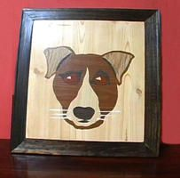 How to Make a Faux Wood Dog Portrait