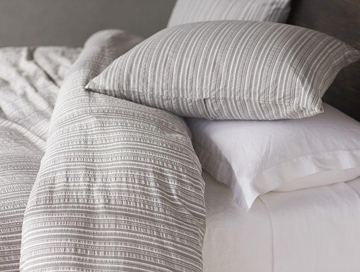 modern master bedroom with threshold seersucker duvet cover set | 45 best Seersucker images on Pinterest | Bedroom suites ...
