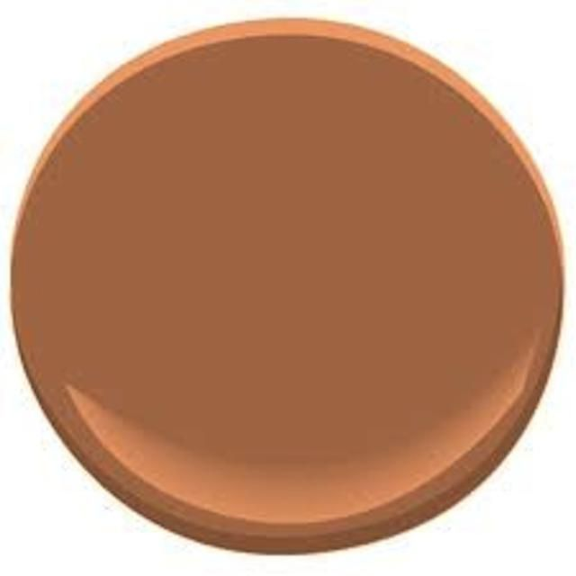 11 Best Tuscan-Style Paint Colors: Firenze AF-225 - Benjamin MooreFiery and rustic, Benjamin Moore's Firenze can liven up your Tuscan-style decor.  Wonderful as an accent wall, Firenze could also warm up a kitchen or dining room.