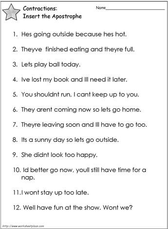 Contractions Worksheet 3 With Images