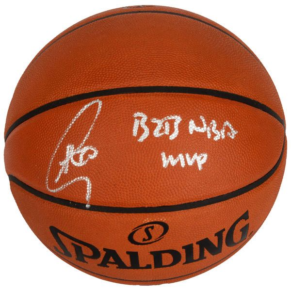 Stephen Curry Golden State Warriors Fanatics Authentic Autographed Pro Leather Basketball with B2B NBA MVP Inscription - $999.99