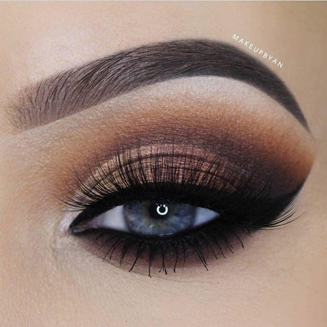стрижкой макияж в картинках коричневые тени сделали для вас