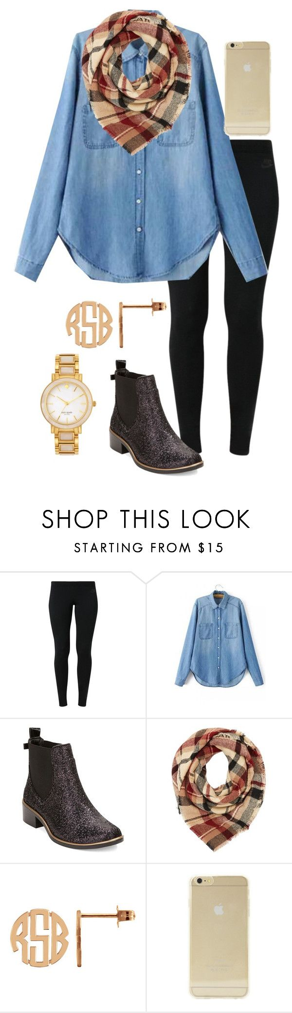 """Happy Friday!!! "" by madelyn-abigail ❤ liked on Polyvore featuring NIKE, Kate Spade, Charlotte Russe, Sonix, women's clothing, women's fashion, women, female, woman and misses"