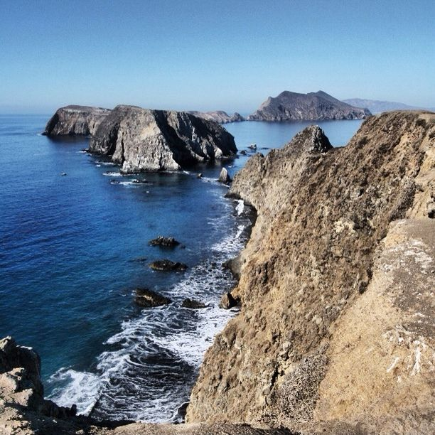 """Discovered by Bernini, """"View of West and Middle Islets from Inspiration Point, Anacapa Island in the Channel Islands. Take a boat from Oxnard, CA or book a campsite to stay overnight."""" at Anacapa Island, Ventura County, California"""