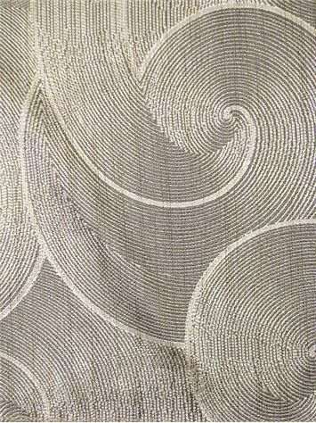 "Skalakattack Pewter - Transitional jacquard fabric from Valdese Weavers with Crypton Home Finish – Durable and stain resistant, perfect for any furniture upholstery fabric project. Content; 58% rayon / 21% poly / 21% nylon. Weight; 0.89 lbs per yard. Width; 58"". Made in U.S.A"