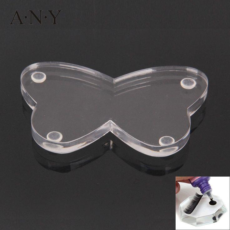 ANY Butterfly-Shaped Eyelash Adhesive Glue Holder False Eyelash Extension Crystal Glass Glue Pallet Accessories Single Piece
