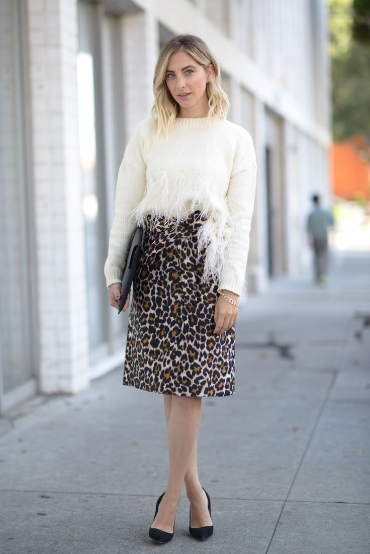 Elizabeth and James Sweater (available in burgundy here), J.Crew Skirt, Manolo…