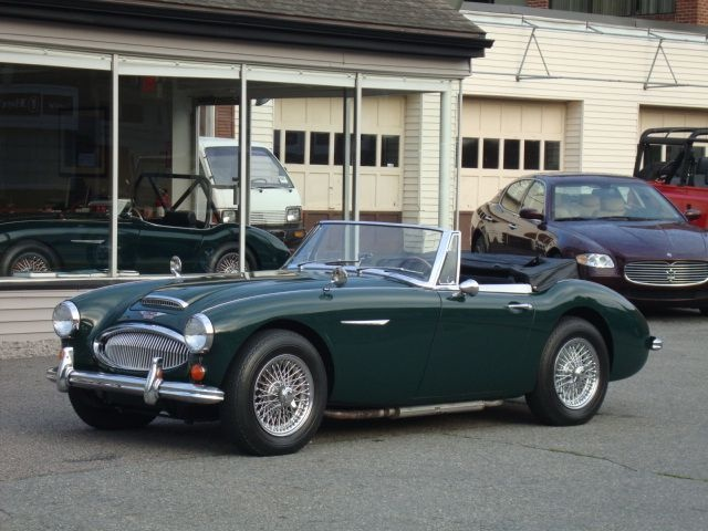 Austin Healey Sprite In British Racing Green.a Cute, Tiny Car For A Cute,  Tiny Girl!