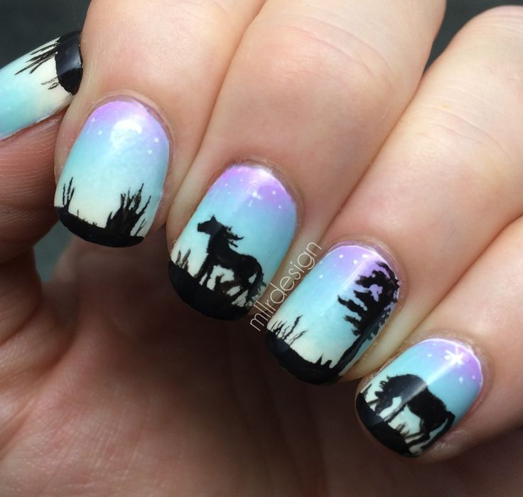 Horse Nail Designs | Horse nails on gradient