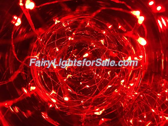 2m/6.6ft 1 set Red 20 LED fairy light string strand cr 2032