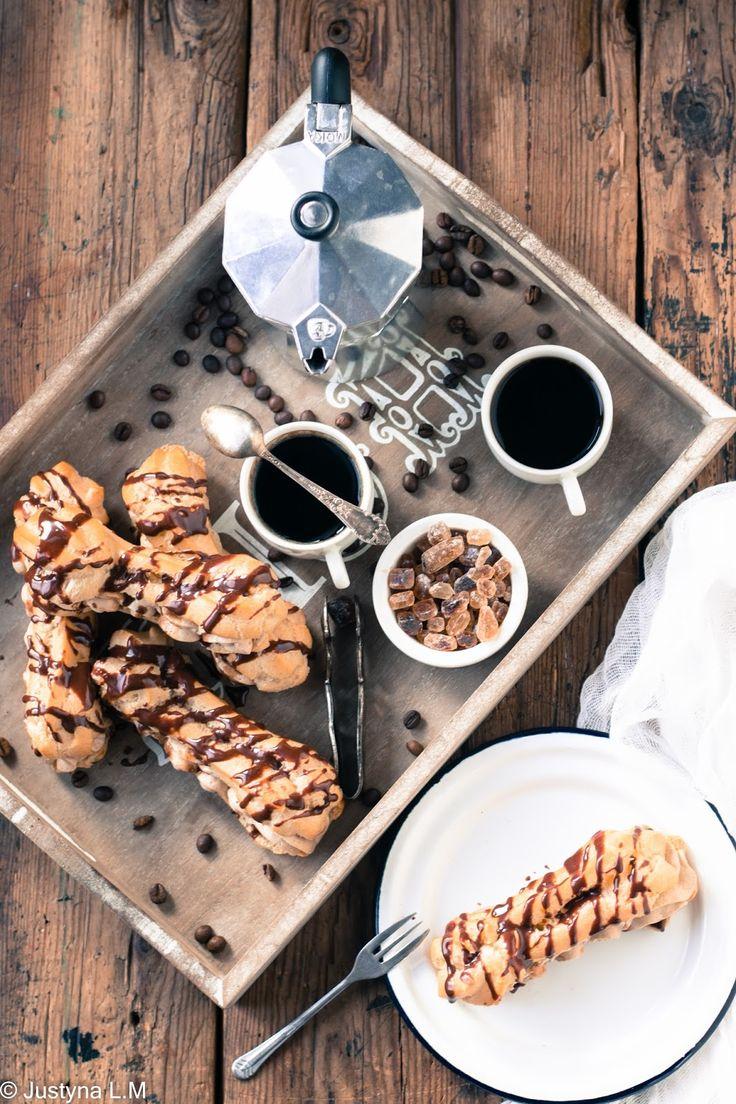 Eklerki z kremem kawowym - Gotowanie i pieczenie - I love it .