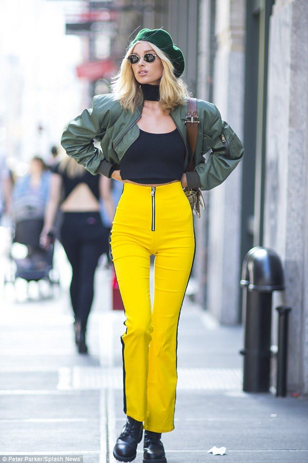 Legs for days: Daring to impress, the Swedish beauty put her gorgeous gams on center stage in a pair of I.Am.Gia pants