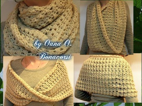 Tutorial sciarpa all'uncinetto - Dallas dream scarf rivisitata - bufanda crochet - crochet scarf - YouTube