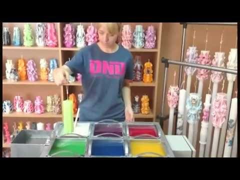 Candle making machine Wax melting tank for dipping candles Cazan de parafina lumanari sculptate - YouTube