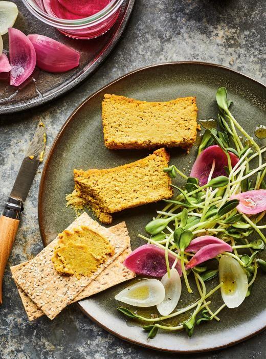Végé-pâté aux oignons caramélisés  // Notes à moi :  ajouter 1 boîte de lentilles + 1/2 tasse d'eau pour plus de protéines, se congèle