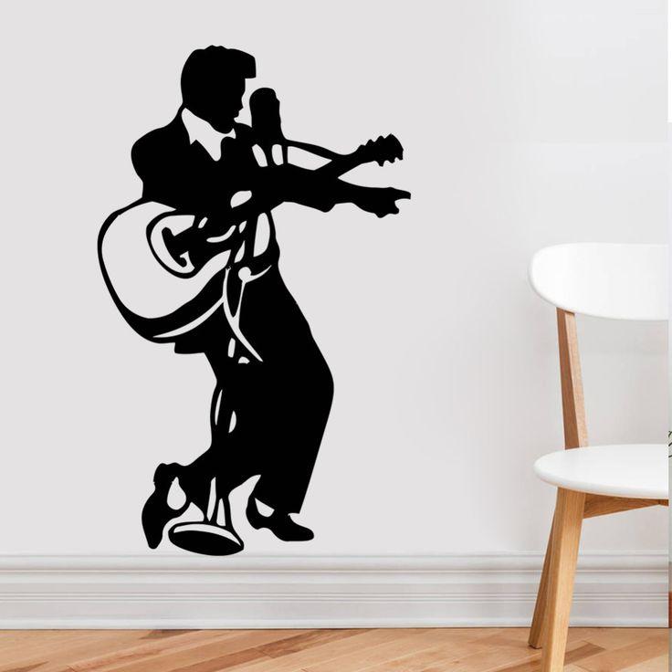 Pas cher Rock Musique Guitare Home Decor Elvis Presley Vinyle Décoration Décoration De La Maison Stickers Muraux Stickers Muraux Elvis14, Acheter  Stickers muraux de qualité directement des fournisseurs de Chine:Rock Musique Guitare Home Decor Elvis Presley Vinyle Décoration Décoration De La Maison Stickers Muraux Stickers Muraux