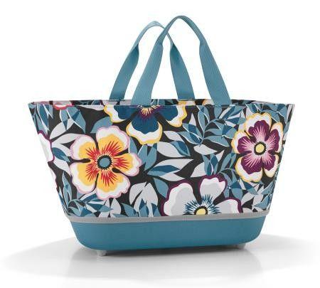 Bolso Plegable Shopping Azul con Flores de Colores Reisenthel http://www.tutunca.es/bolso-plegable-shopping-azul-flores-de-colores-reisenthel